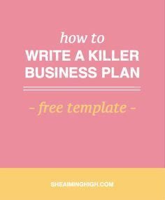 Free business plans how to write